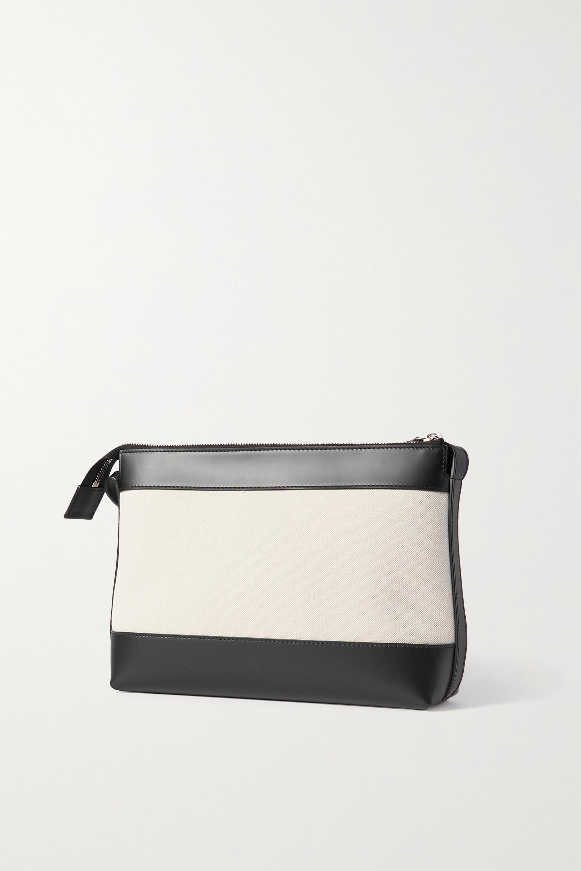 Balenciaga Leather-trimmed canvas shoulder bag