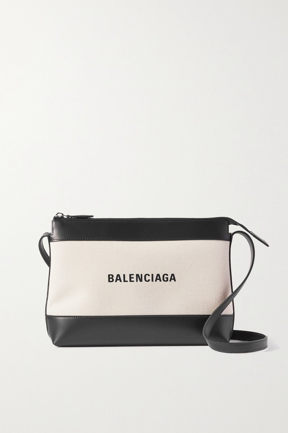 Balenciaga Leather-trimmed canvas shoulder bag