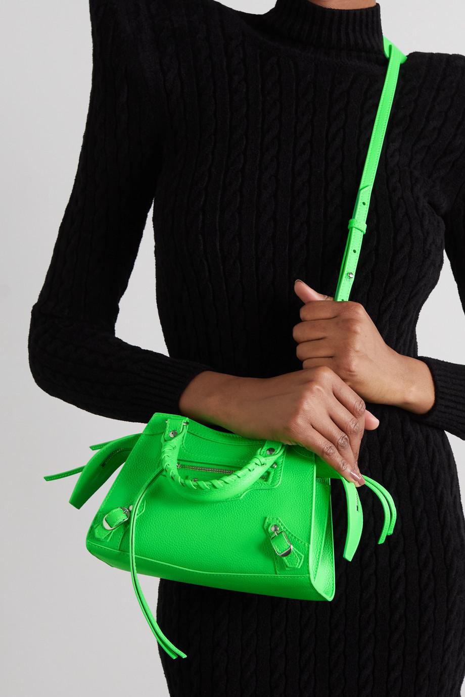 Balenciaga Neo Classic City mini neon textured-leather tote