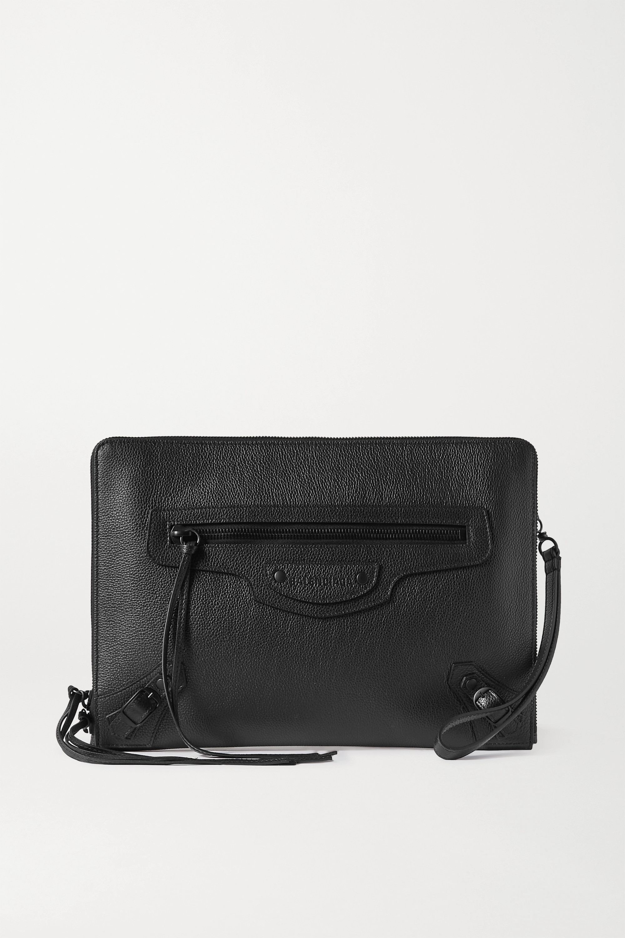 Balenciaga Neo Classic City large textured-leather pouch