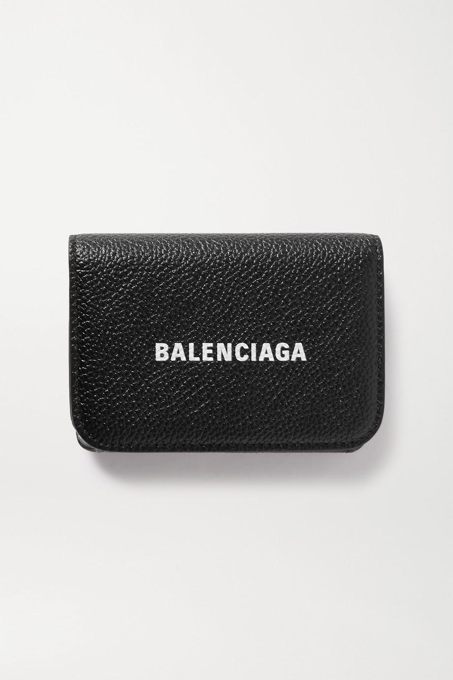 Balenciaga Porte-monnaie en cuir texturé imprimé Mini
