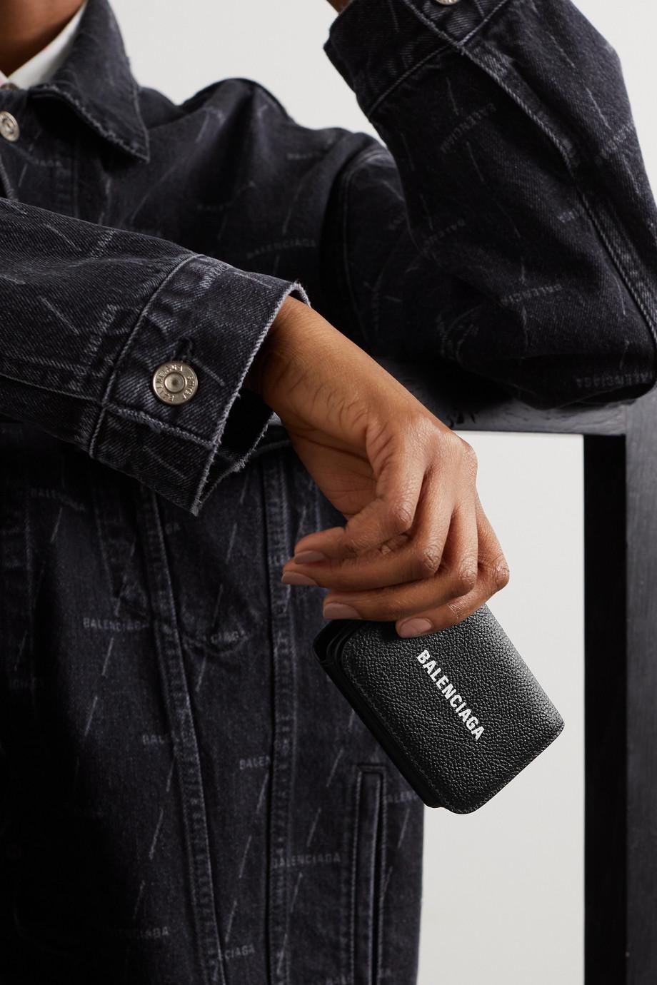 Balenciaga Mini printed textured-leather wallet