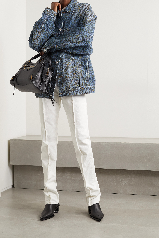 Balenciaga Veste oversize en jean imprimé