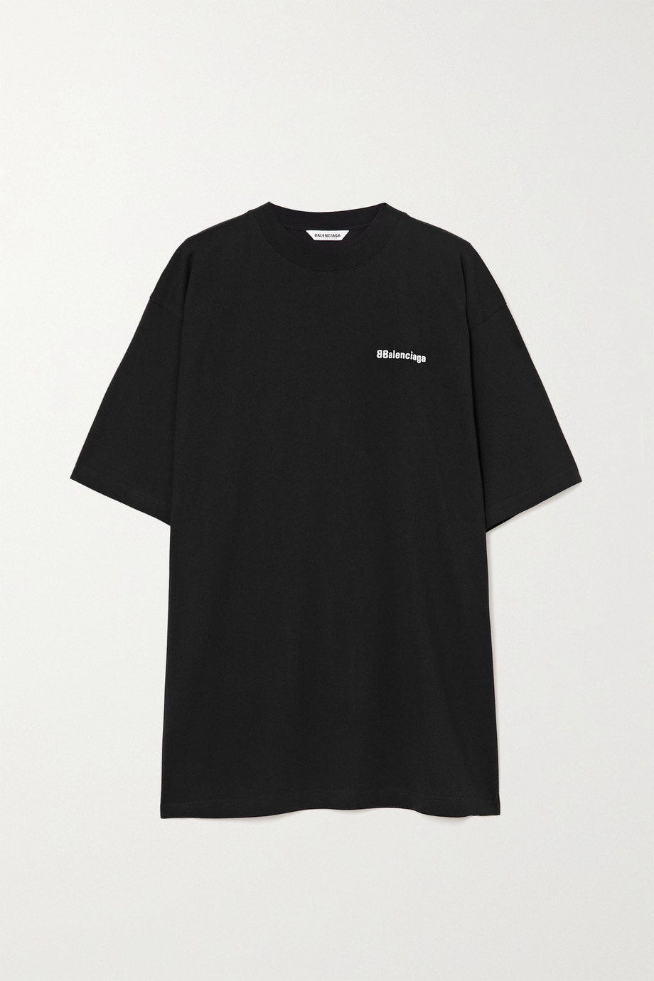 Balenciaga Oversized embroidered cotton-jersey T-shirt