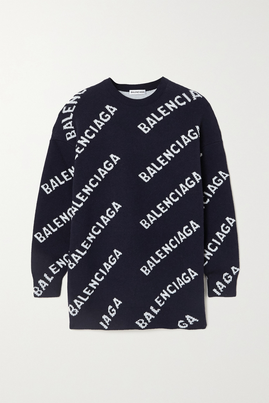Balenciaga Intarsia wool-blend sweater
