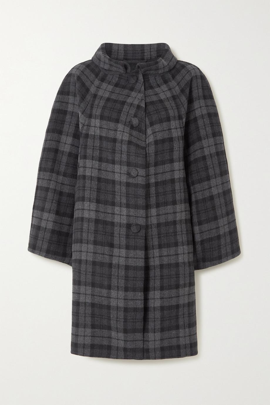Balenciaga Manteau en laine mélangée à carreaux