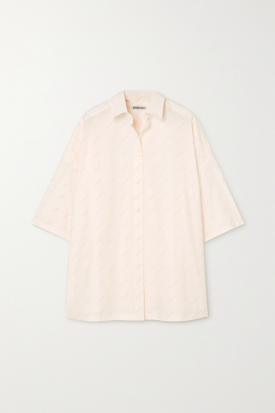 Balenciaga Printed cotton-poplin shirt