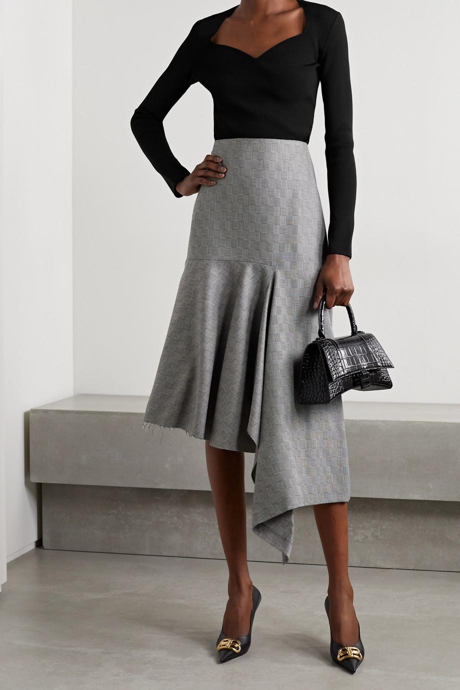 Balenciaga Ribbed stretch-knit top