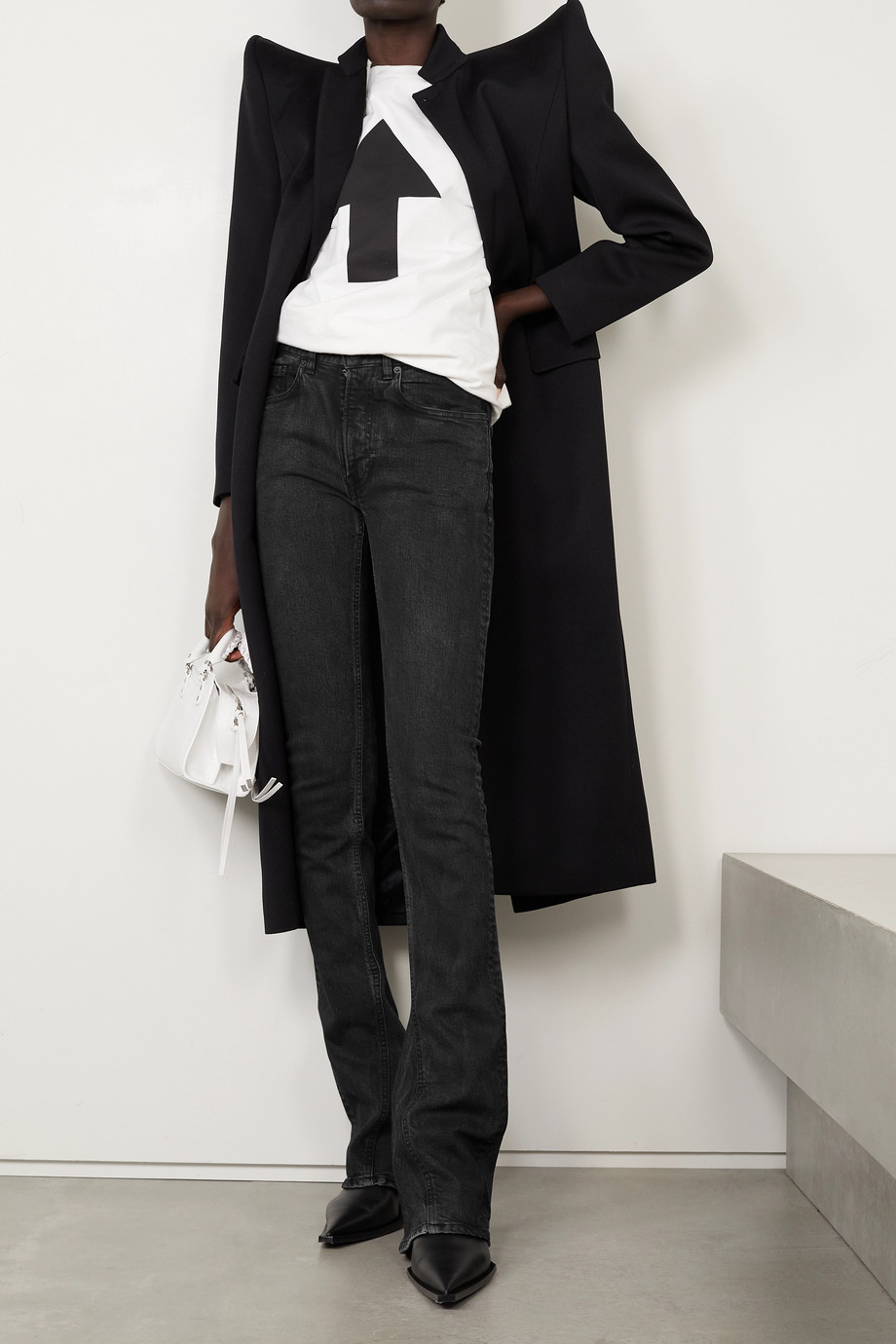 Balenciaga Jean évasé taille mi-haute