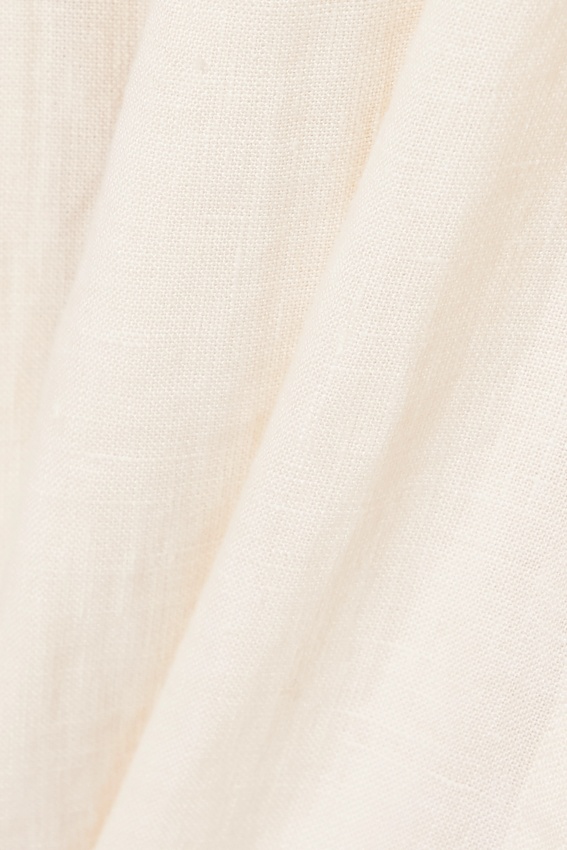 Three Graces London Robe portefeuille midi en lin Fiona