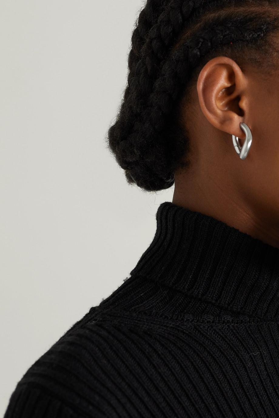 Balenciaga Boucles d'oreilles argentées Loop XS
