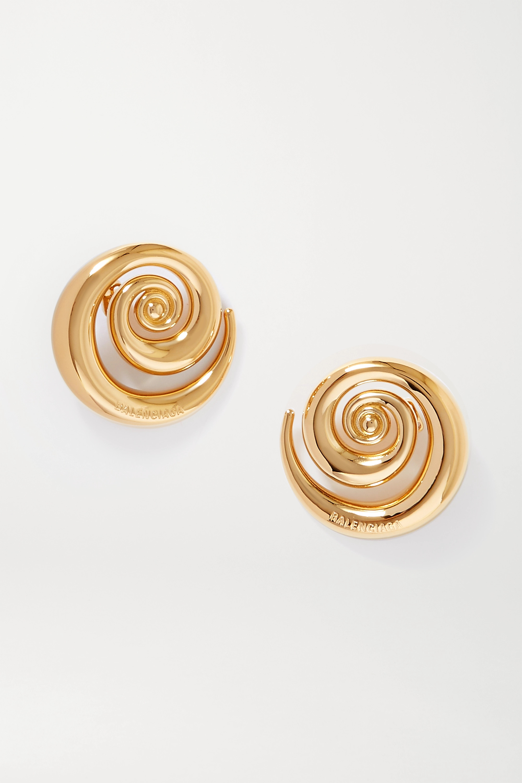 Golden Snail Earrings