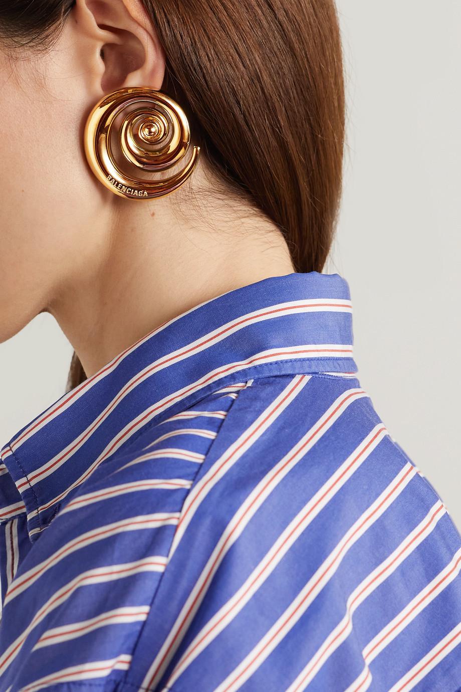 Balenciaga Snail oversized gold-tone earrings