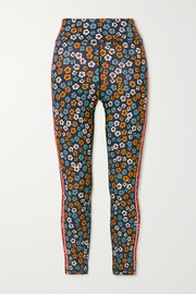 The Upside Atacama Dance striped floral-print stretch leggings