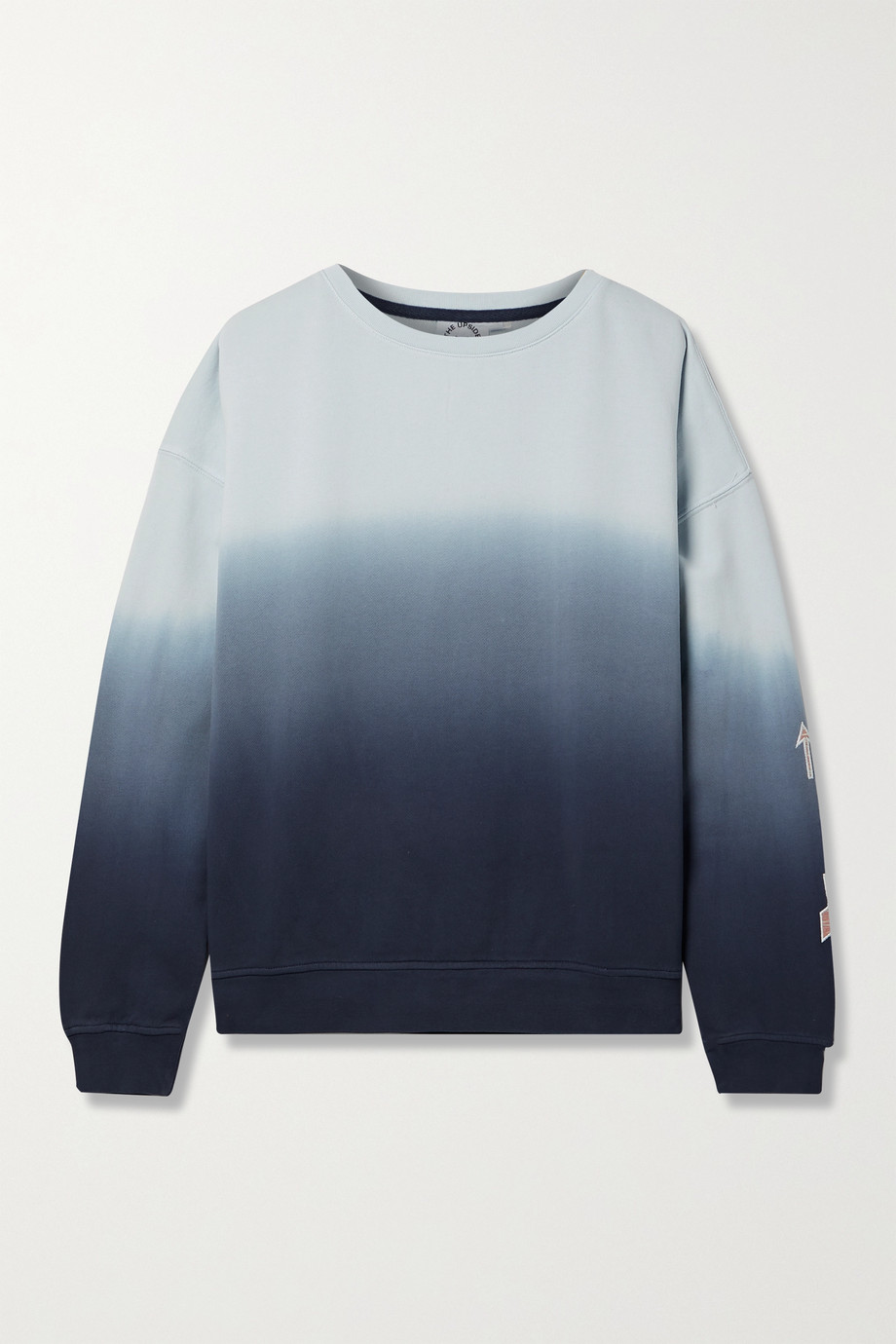 The Upside Alena embroidered ombré cotton-jersey sweatshirt