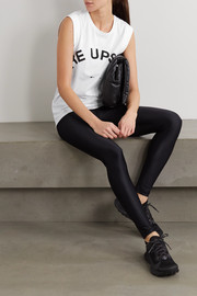 The Upside Muscle printed organic cotton-jersey tank