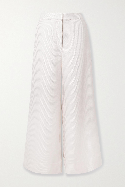BONDI BORN + NET SUSTAIN The Line jacquard wide-leg pants