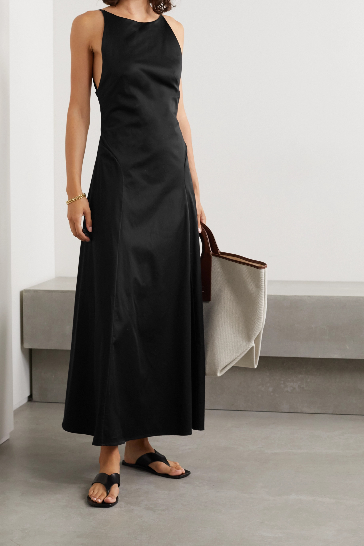 BONDI BORN + NET SUSTAIN Rouleau open-back cotton-blend sateen maxi dress