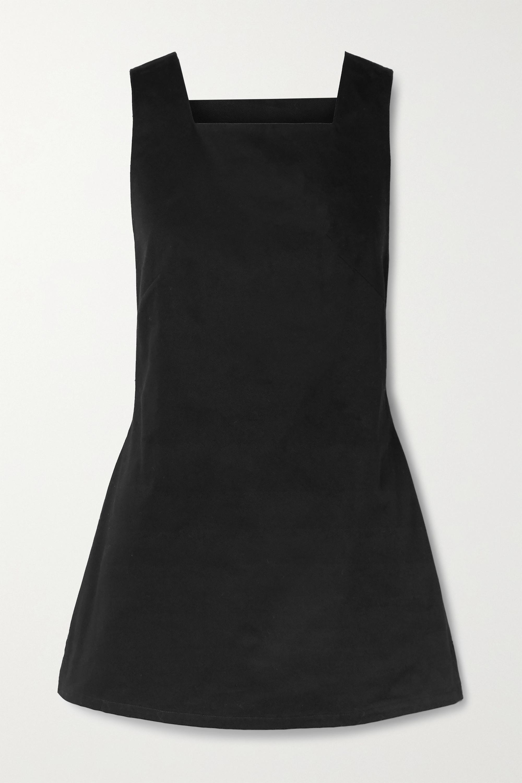 BONDI BORN + NET SUSTAIN open-back cotton-drill mini dress