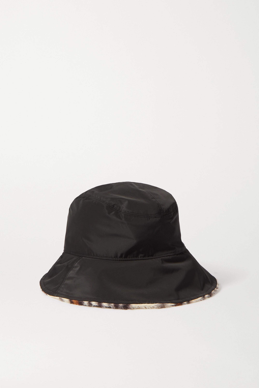 rag & bone Addison reversible shell and leopard-print faux fur bucket hat