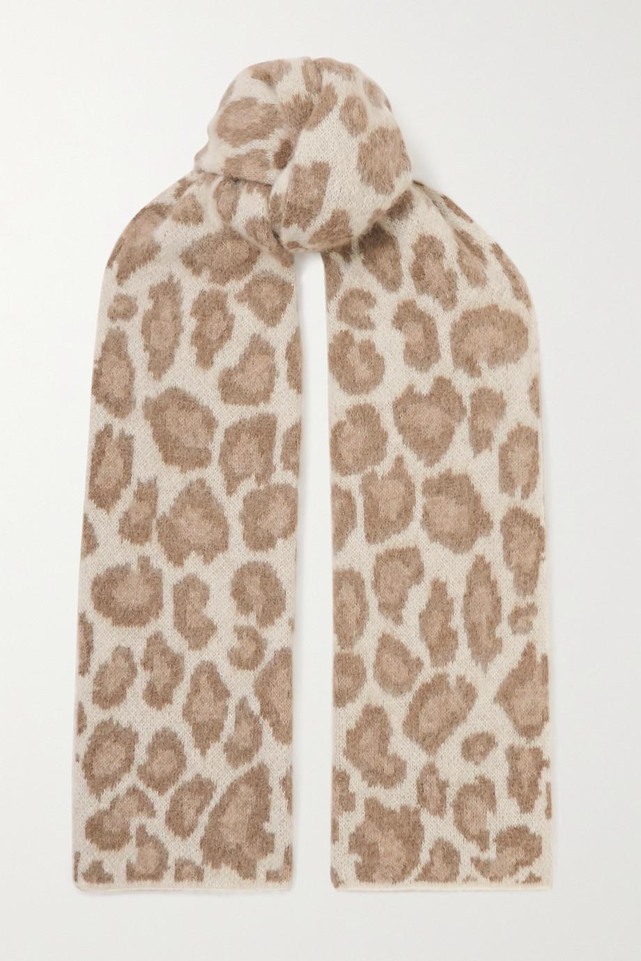 rag & bone Schal aus Jacquard aus einer Alpakawollmischung mit Leopardenmuster