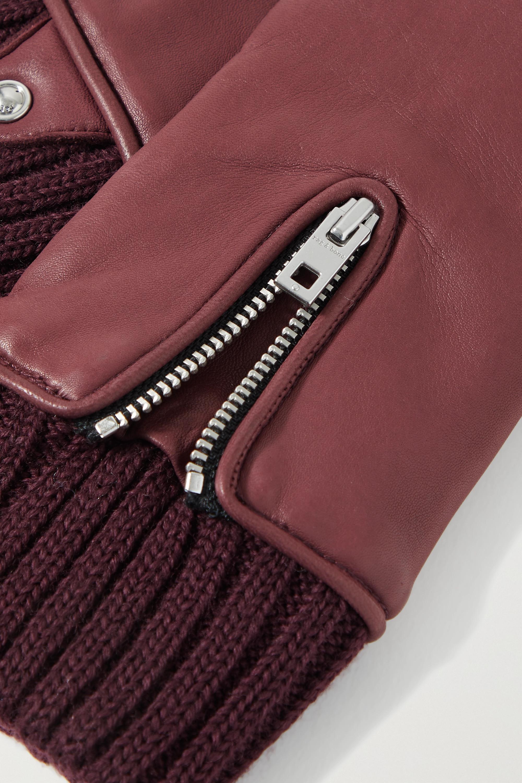 rag & bone Alpaca-lined leather gloves