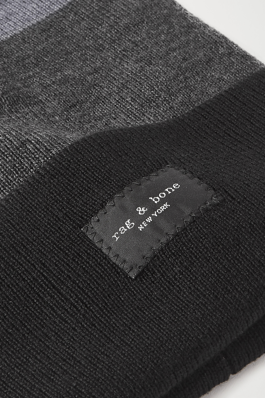 rag & bone Addison striped wool-blend beanie