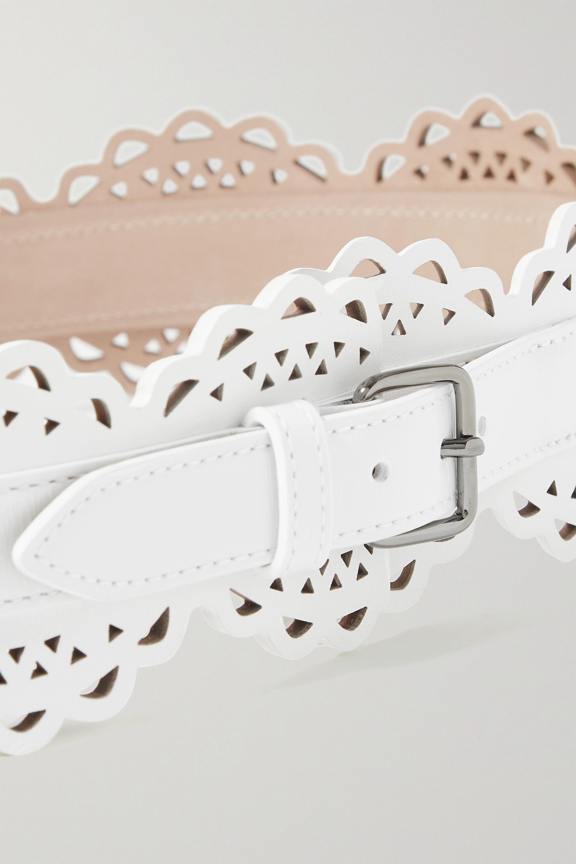 Alaïa Gürtel aus lasergeschnittenem Leder
