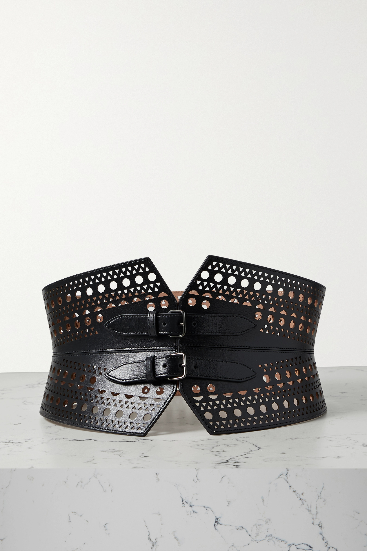 Alaïa Laser-cut leather waist belt