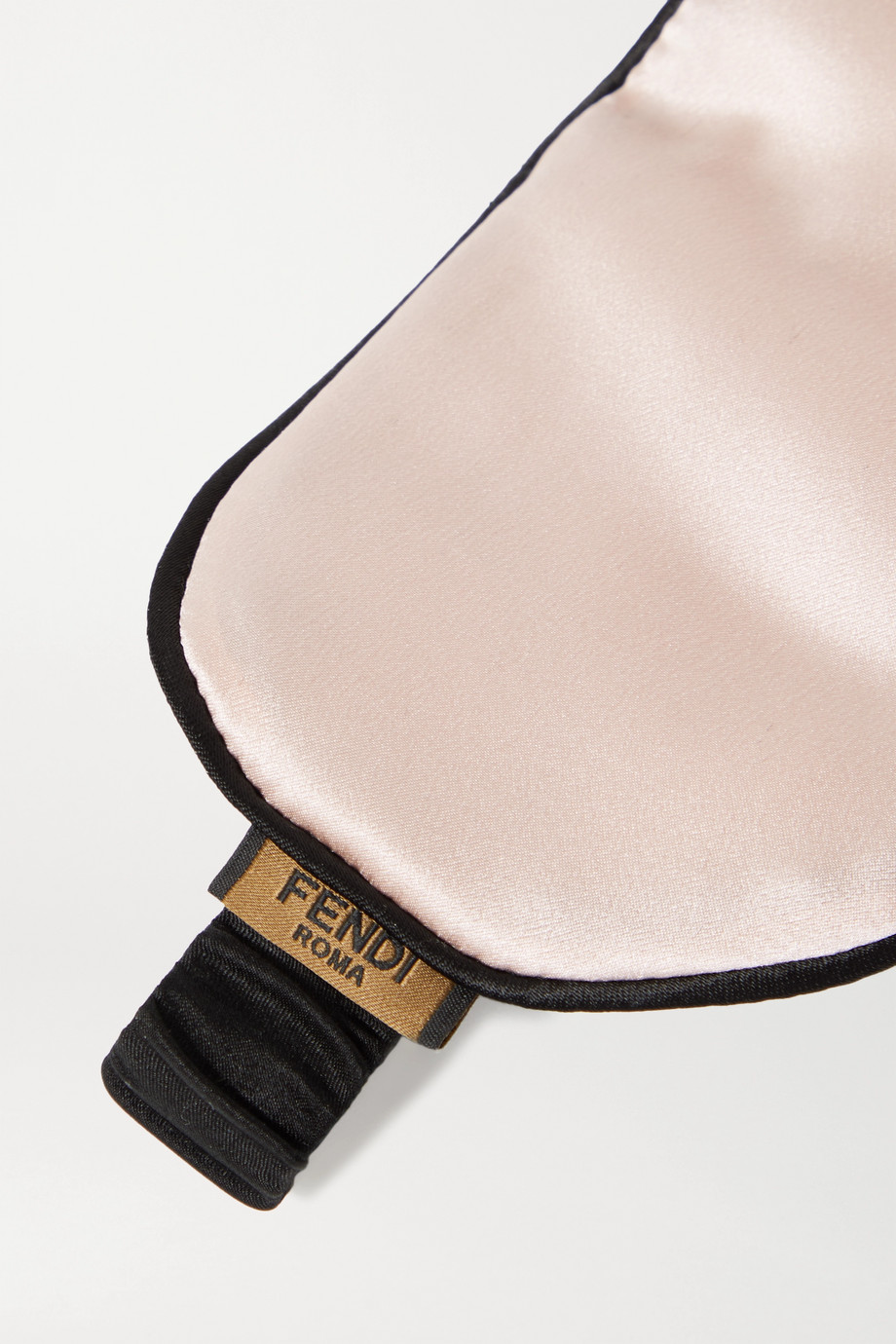 Fendi Reversible silk-satin eye mask and pouch