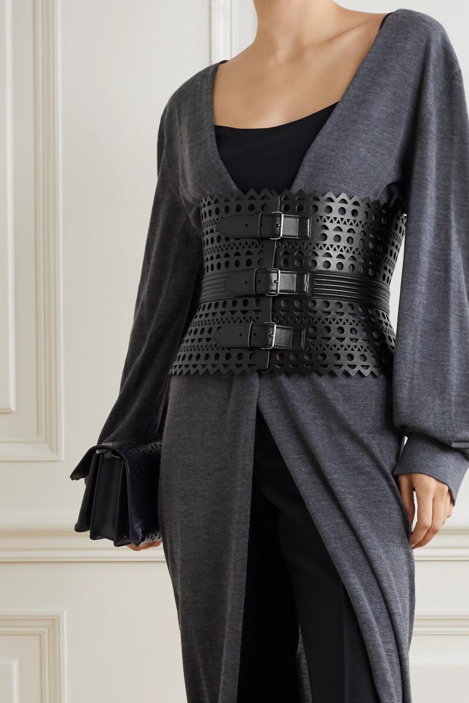 Alaïa Taillengürtel aus lasergeschnittenem Leder