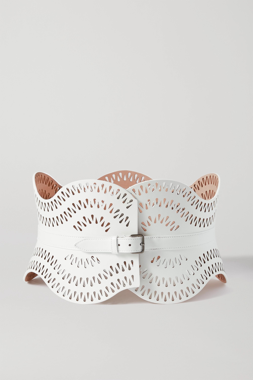 Alaïa Laser-cut leather belt