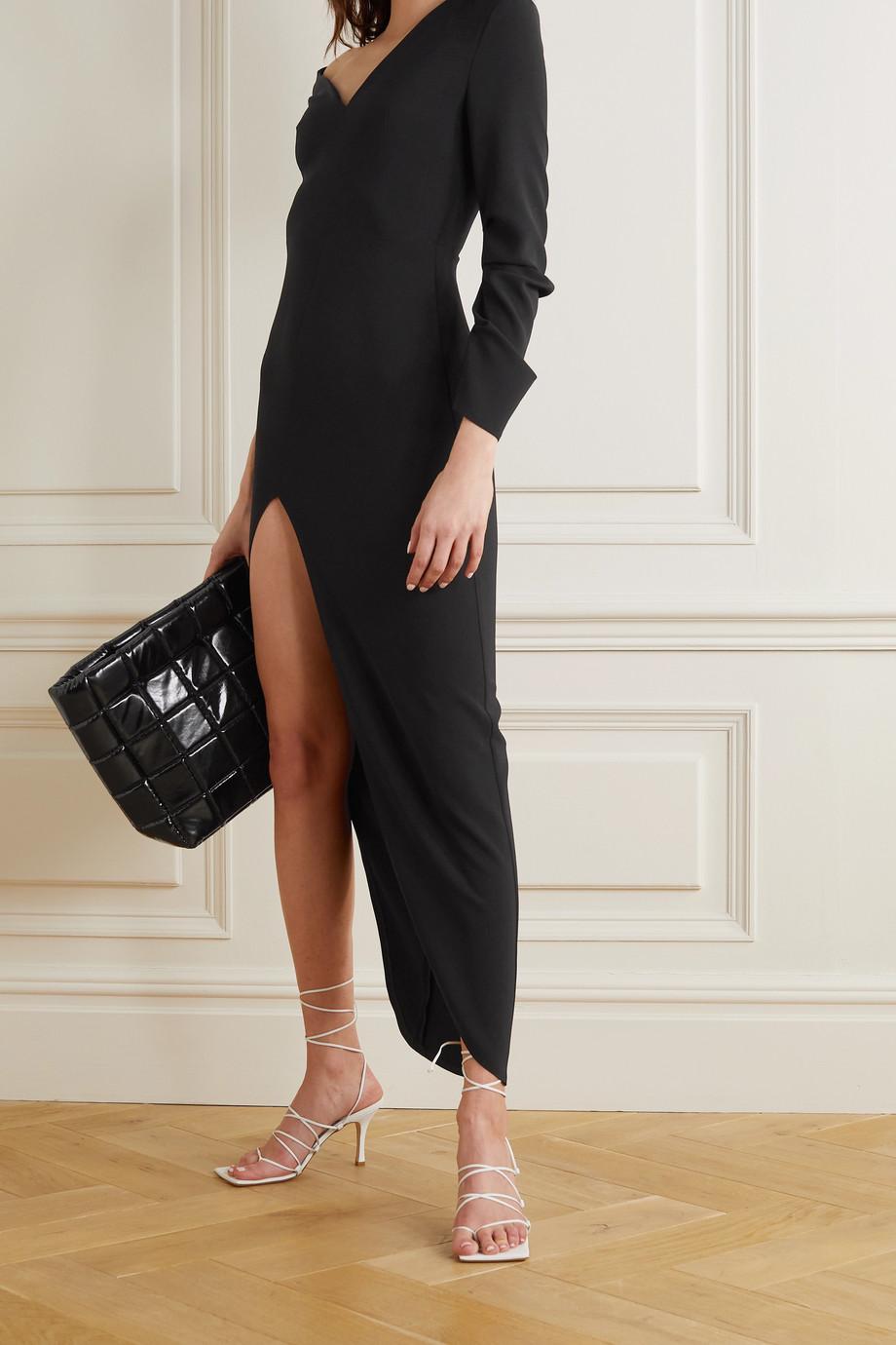 A.W.A.K.E. MODE Kleid aus Crêpe mit asymmetrischer Schulterpartie