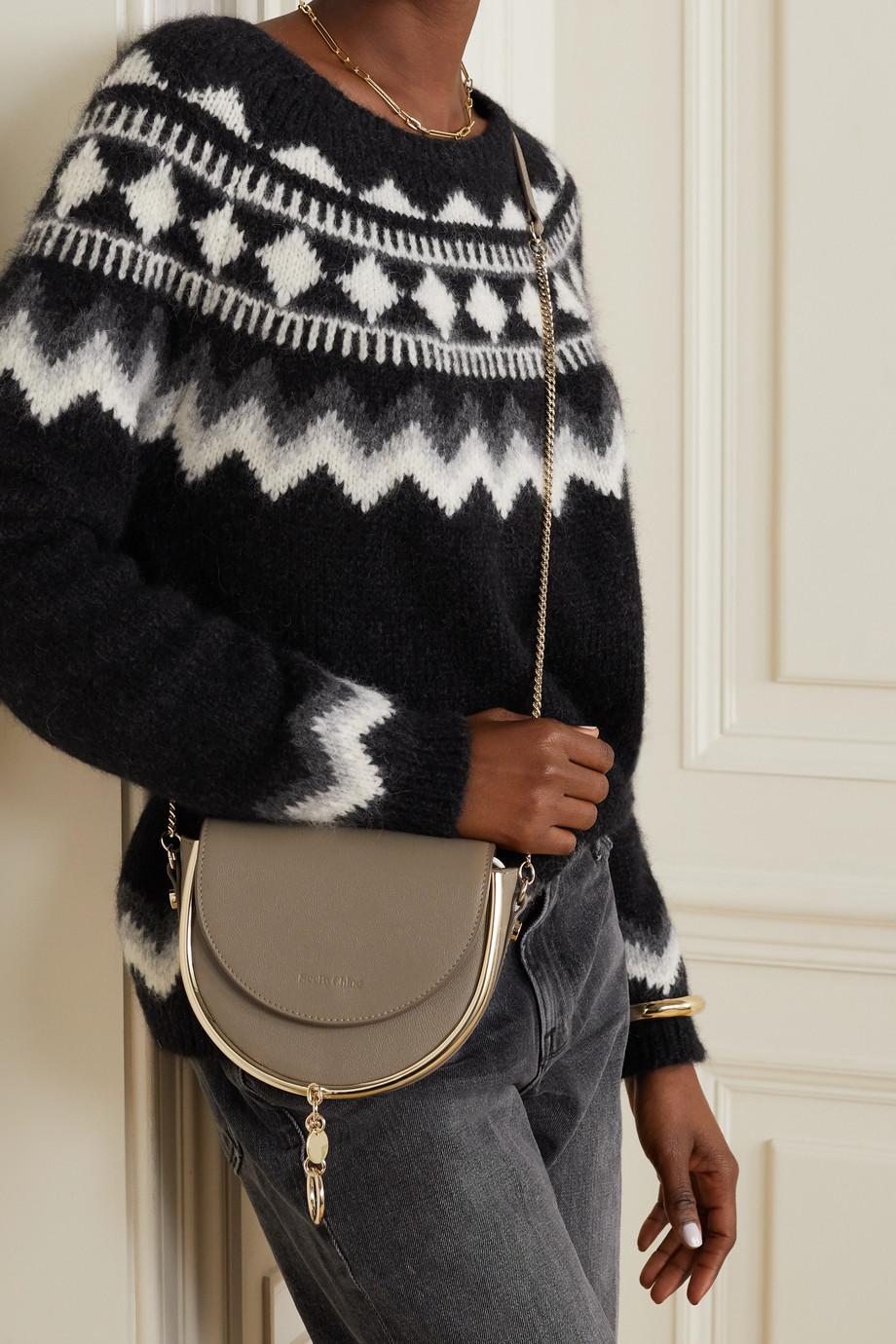 See By Chloé Mara embellished textured-leather shoulder bag