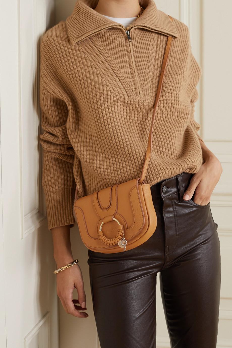See By Chloé Hana mini Schultertasche aus strukturiertem Leder