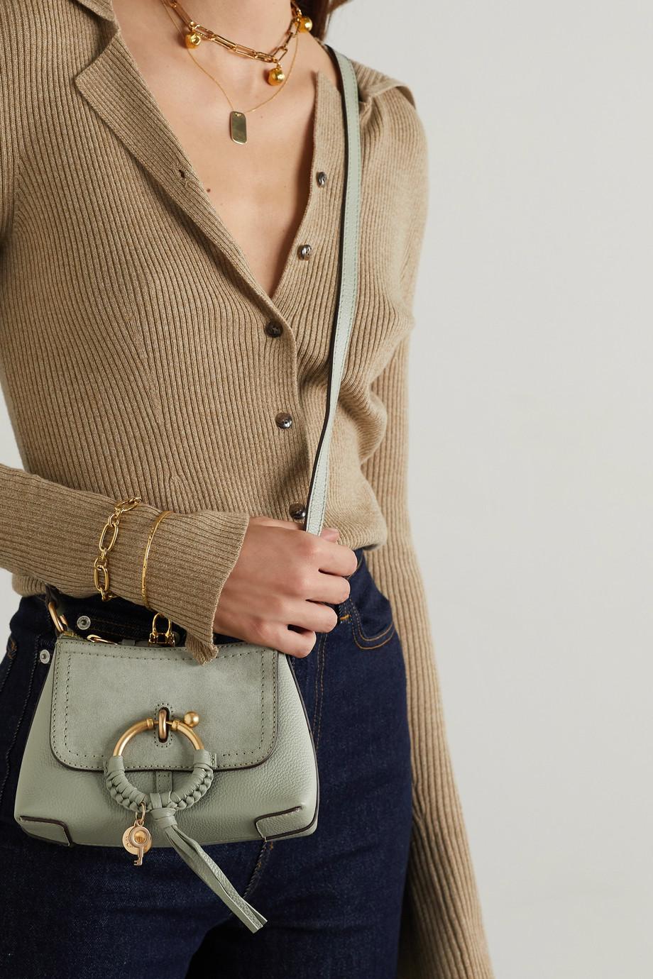 See By Chloé Sac porté épaule en cuir texturé à finitions en daim Joan Mini