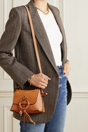 See By Chloé Joan mini suede and textured-leather shoulder bag