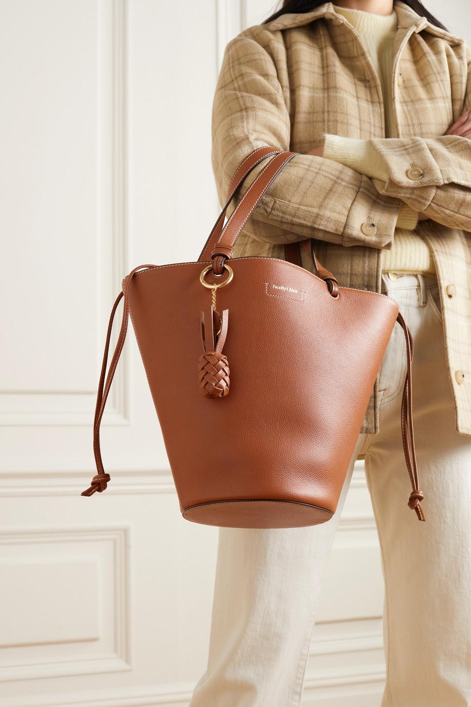 See By Chloé Cecilya medium textured-leather bucket bag