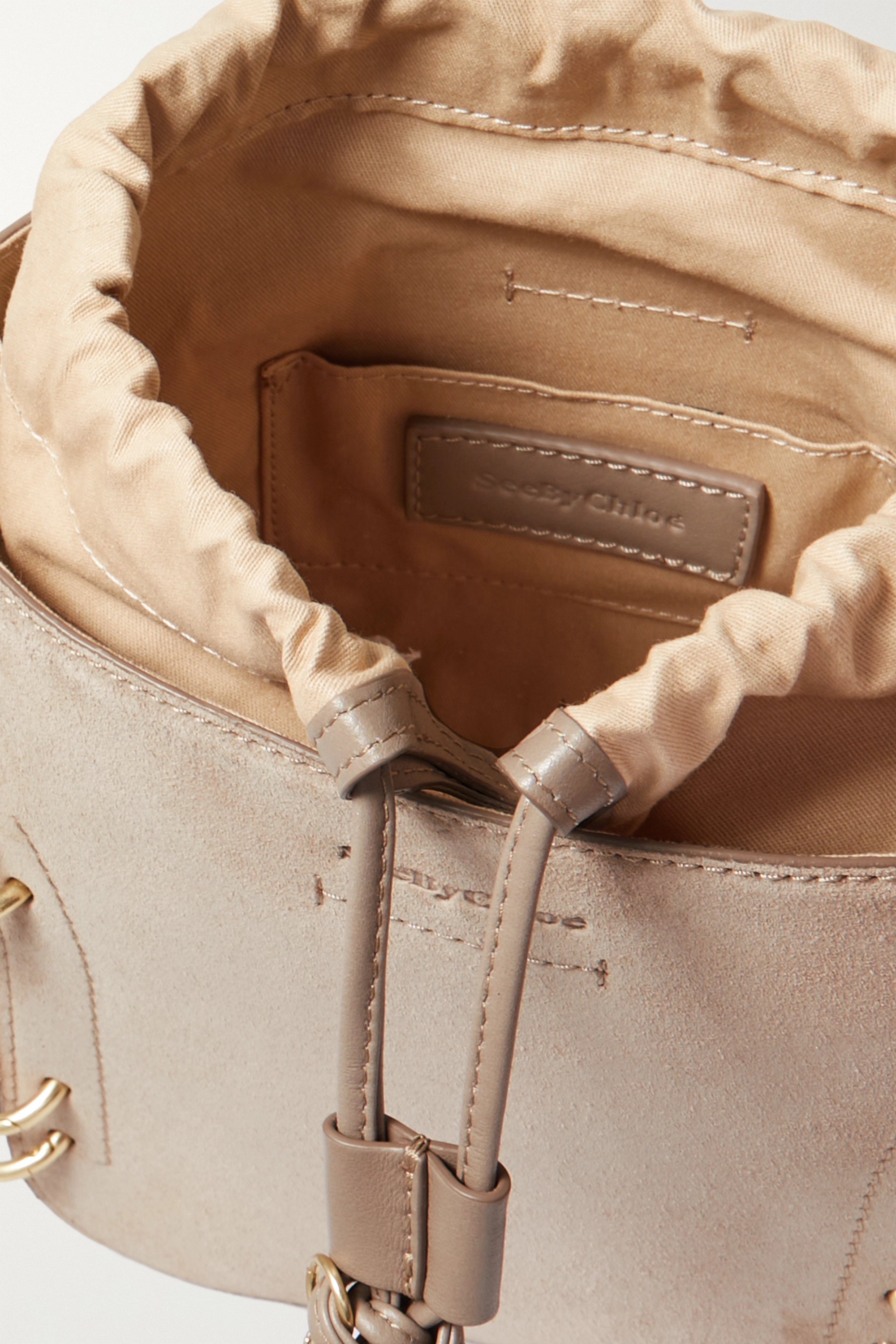 See By Chloé Alvy suede and leather bucket bag