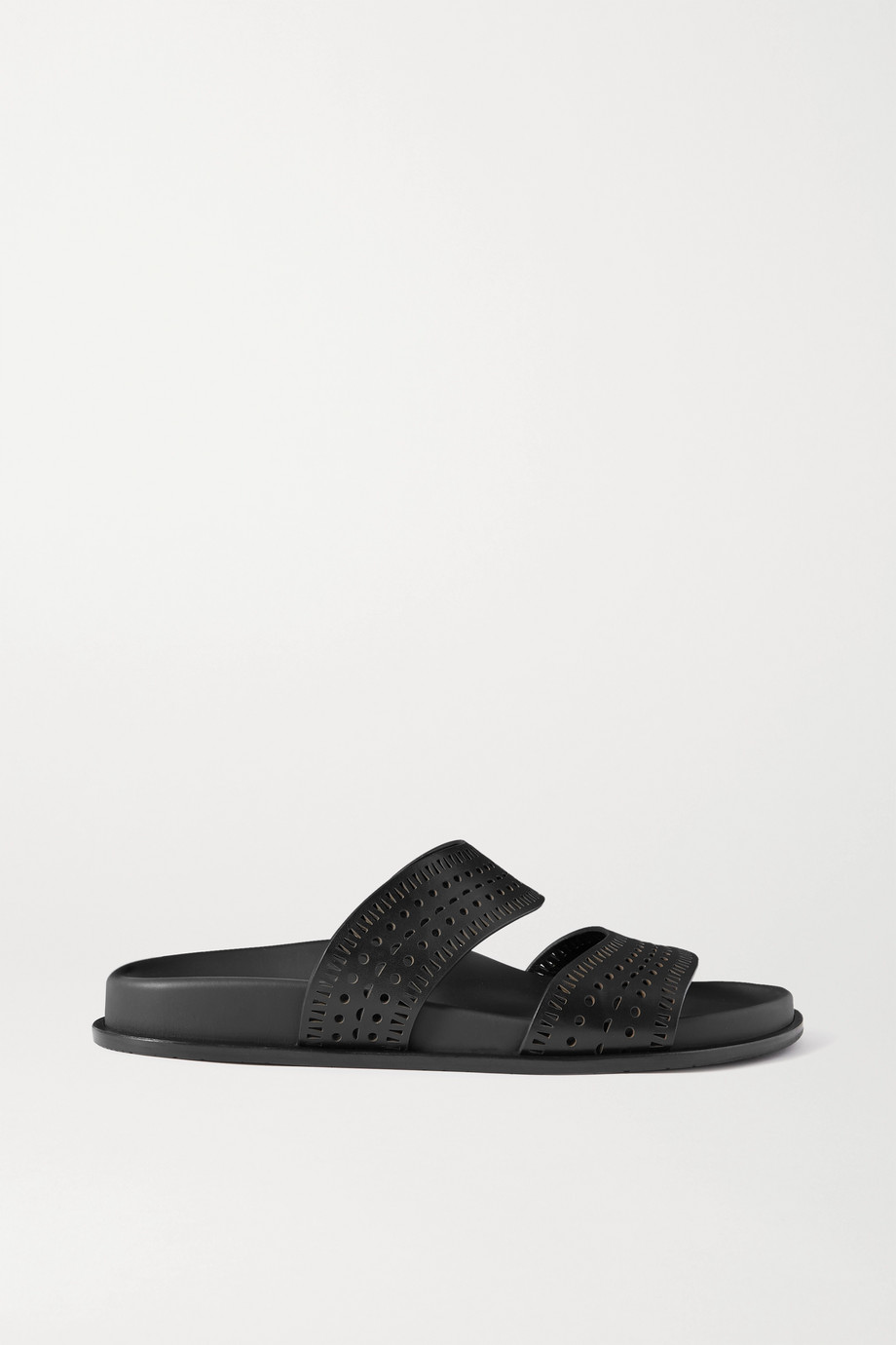 Alaïa Laser-cut leather slides