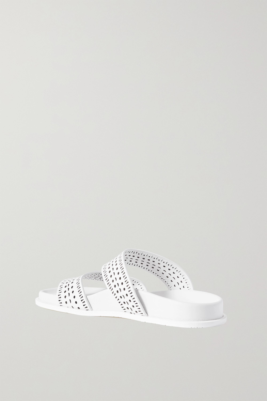 Alaïa Laser-cut leather sandals