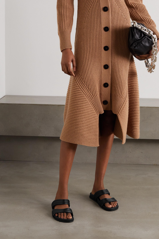 Alaïa Ribbed leather slides