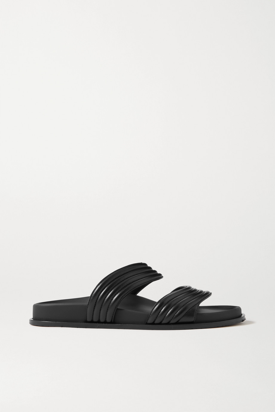 Alaïa Ribbed leather slides