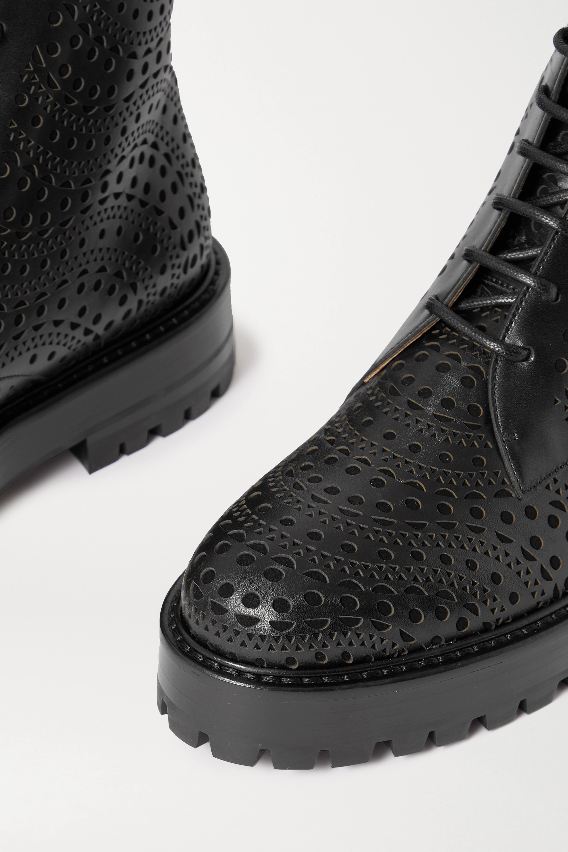 Alaïa Laser-cut leather ankle boots