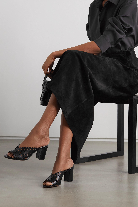 Alaïa 75 laser-cut leather sandals