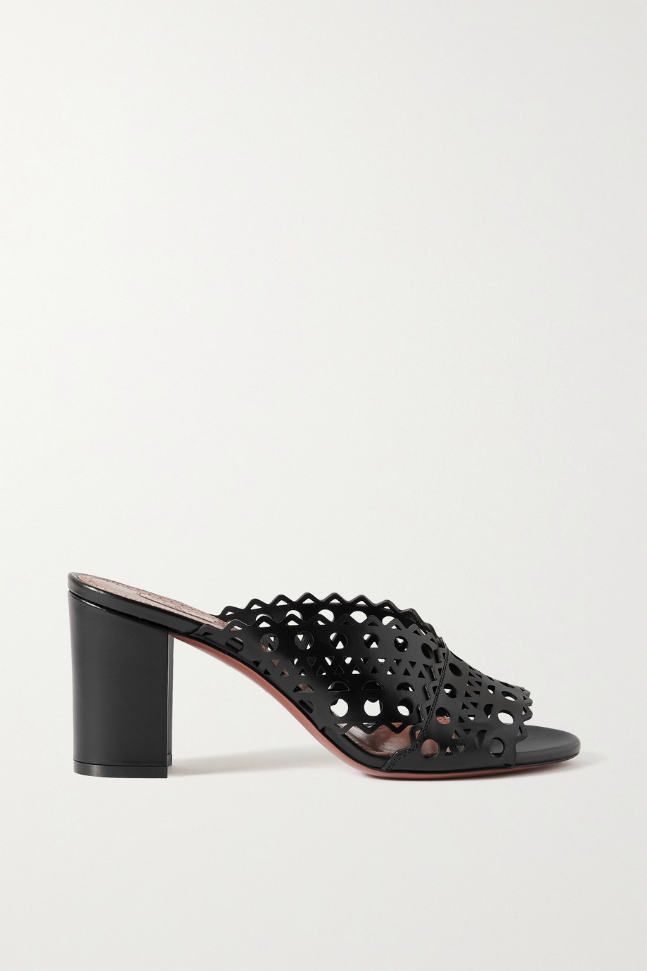 Alaïa 75 laser-cut leather sandals