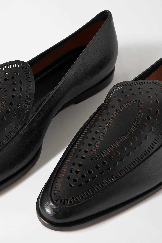 Alaïa Laser-cut leather loafers