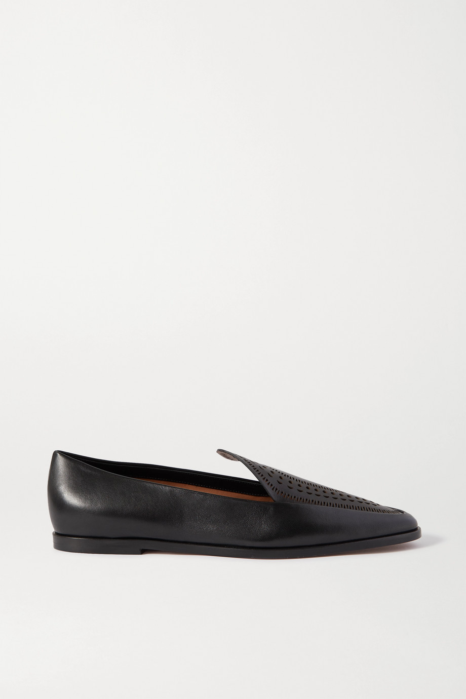 Alaïa Laser-cut leather loafers