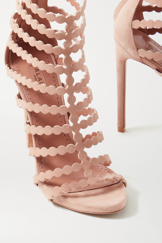 Alaïa Editions 115 laser-cut suede sandals