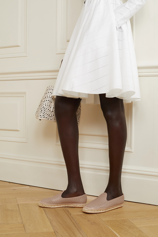 Alaïa Espadrilles aus lasergeschnittenem Leder